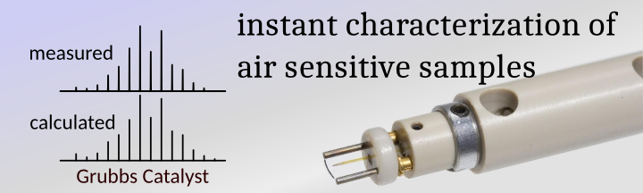 instant characterization of air sensitive samples